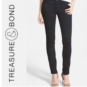 Treasure & Bond black faded skinny jeans